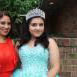 Arcadia University student Emilia Hurtado and her mother at her quinceanera