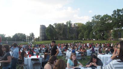 President's picnic on Haber Green.